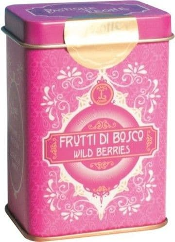 Leone Pastilles Wild Berries Flavour Sweets In Retro Chic Tin 42g
