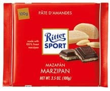 Ritter Sport Marzipan Dark Chocolate Bar 100g
