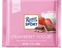 Ritter Sport Strawberry Yogurt Milk Chocolate Bar 100g