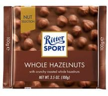 Ritter Sport Whole Hazelnuts In Milk Chocolate 100g