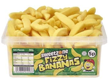 Sweetzone Fizzy Bananas Of 120 (HALAL)