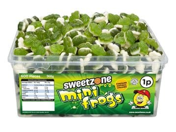 Sweetzone Mini Frogs Tub Of 600 (HALAL)