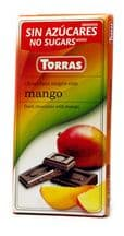 Torras No Added Sugar Dark Chocolate Bar With Mango 75g