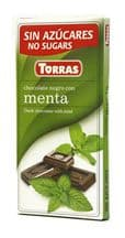 Torras No Added SugarDark Chocolate Bar With Mint 75g