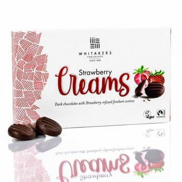 Whitakers Plain Chocolate Strawberry Cremes 150g