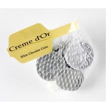 White Chocolate UK Coins Net 50g