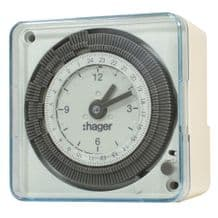 Flash / Hager Compact 24hr Time Clock With Reserve 16021 EH711