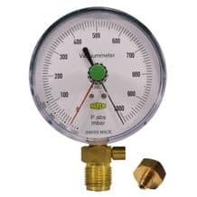Refco 100mm Vacuum Gauge  1000-0 mbar with Safety Valve