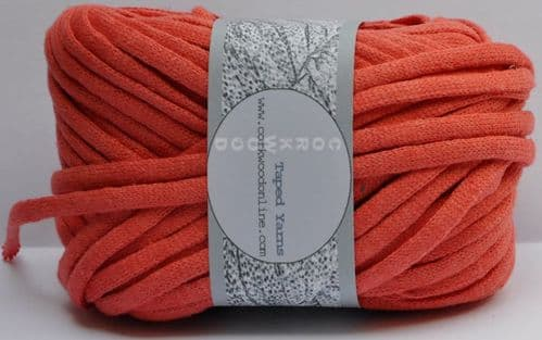 Coral cotton/Linen Chunky thicker Tape yarn 100g ball