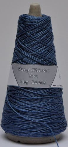 Cornflower extra strong 4ply warp thread for peg loom weaving 100g