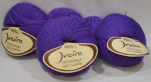 Purple Naturwolle Ivoire 70% mohair 30% wool 200g