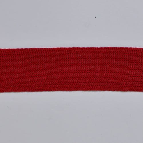 Red 6 cm Knitted Rib tape by the metre 100% Cotton