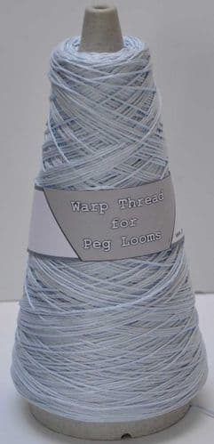 Sky blue extra strong 4ply warp thread for peg loom weaving 100g