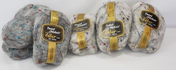 Tiber tweed mohair 140g slate and 180g silver