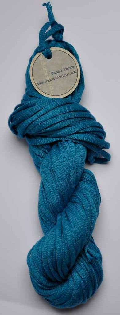 Gentian cotton Chunky Tape yarn for knitting weaving and embellishing