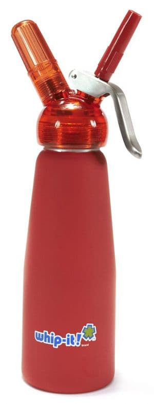 Whip It! 1/2 Litre Translucent Red Cream Whipper.