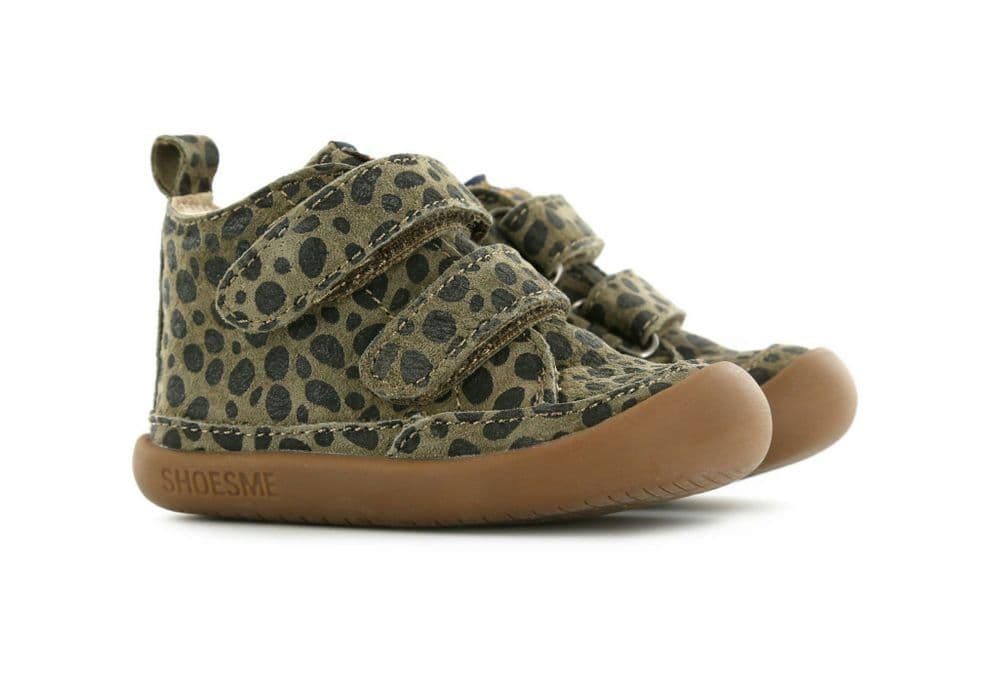 ShoesMe BABY-FLEX Leather Velcro Shoes (Brown Animal)