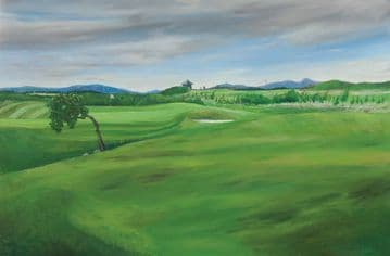 Large Golf Landscape Oil Painting