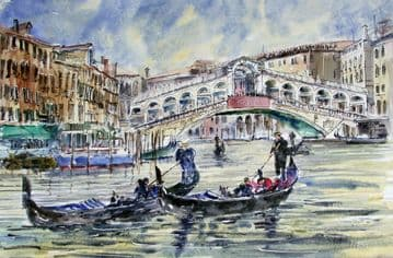 The Rialto Bridge, Venice