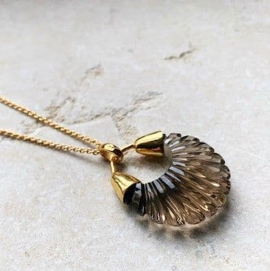 Ettienne Pendant Necklace: Gold and Smoky