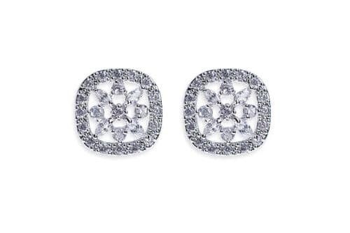 Ivory & Co. Bourbon Crystal Stud Earrings