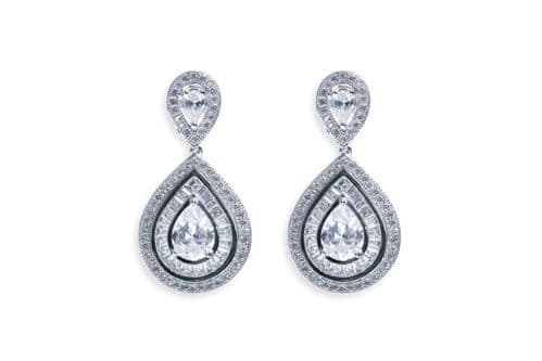 Ivory & Co. Montgomery Crystal Teardrop Earrings