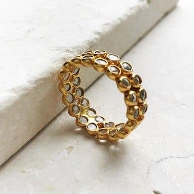 Katrine Ring: Gold and Crystal