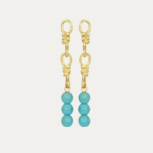 Laguna Earrings: Gold and Turquoise
