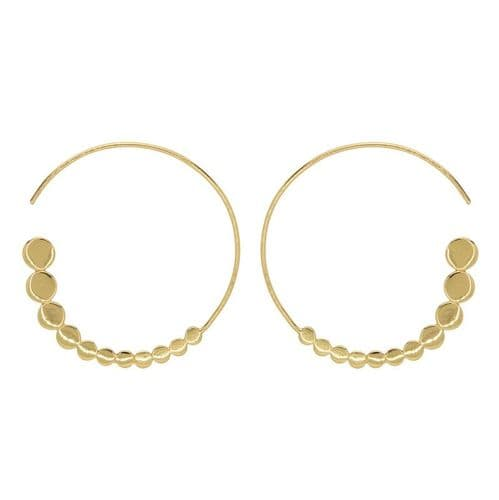 Loved & Luxe Gold Circle Hoop Earrings
