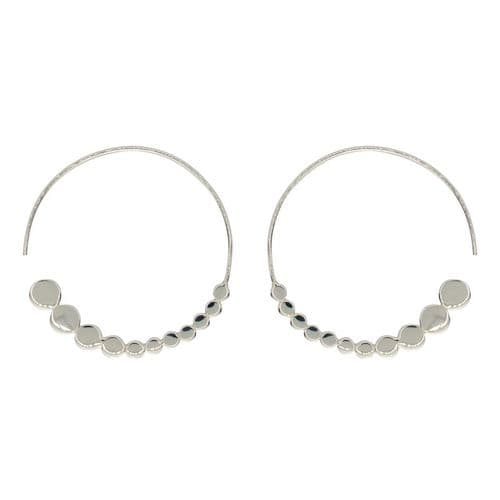 Loved & Luxe Silver Circle Hoop Earrings