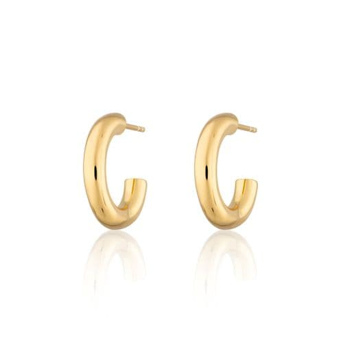 Olivia Chunky Hoop Earrings: Gold
