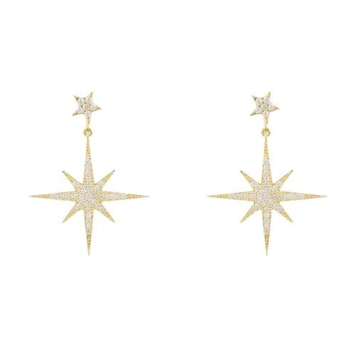 Petite Starburst Earrings: Gold
