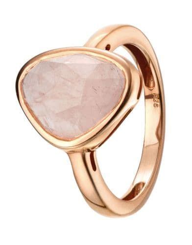 Rose Ring: Rose Gold and Rose Quartz