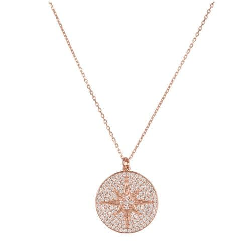 Starburst Pendant Necklace: Rose Gold