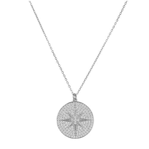 Starburst Pendant Necklace: Silver