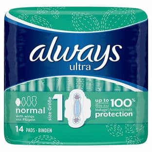 Always Ultra Normal (Size 1) Sanitary Towels 16 Pads