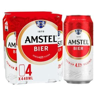 Amstel Beer Cans 4x440ml