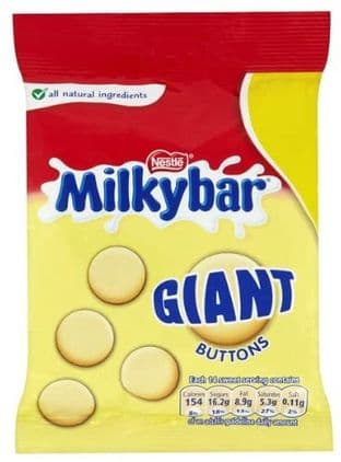 Milkybar White Chocolate Giant Buttons 85g