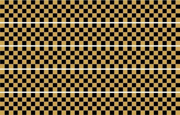 Checker Stripes waterproof Vinyl Sticker vehicle decal GOLD/BLACK