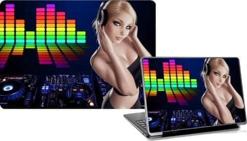 DJ GIRL Laptop Skins Vinyl Stickers Custom Designs