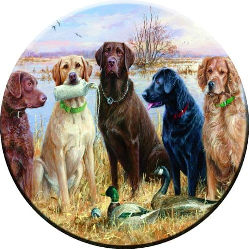 DOGS PAINTING 4x4 Semi-Rigid Spare Wheel Cover