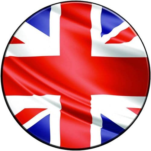 GB FLAG 4x4 Spare Wheel Cover DECAL STICKER
