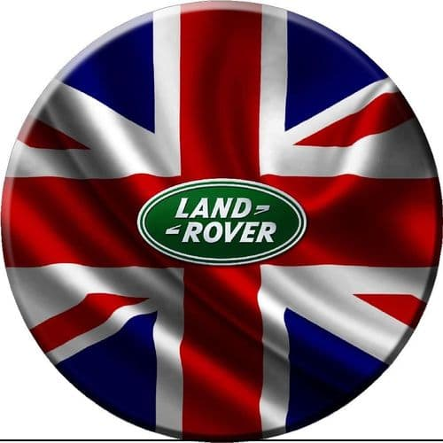 GB LAND ROVER FLAG 4x4 Spare Wheel Cover DECAL STICKER