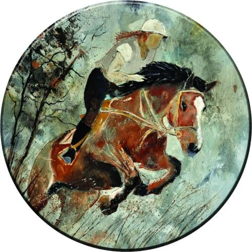 HORSE JUMPING 4x4 Spare Wheel Cover DECAL STICKER