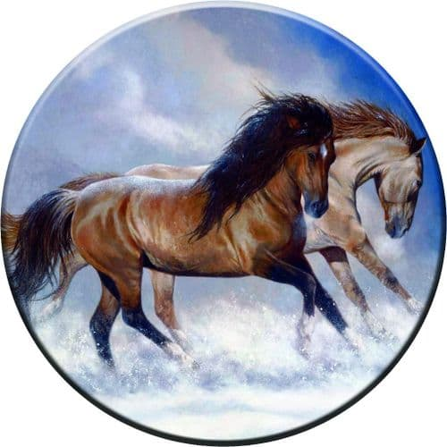 HORSES 4x4 Spare Wheel Cover DECAL STICKER