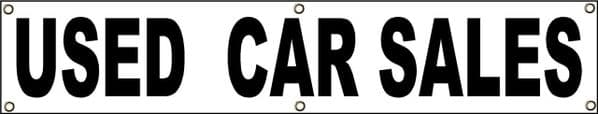 PVC Banner USED CAR SALES