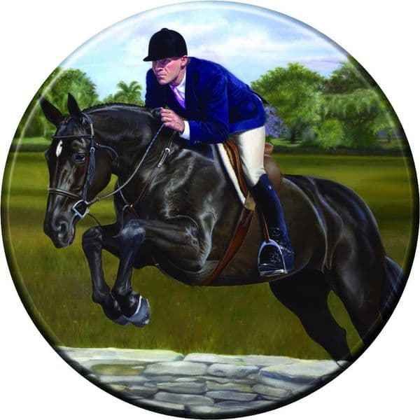 show jumping horse 4x4 Semi-Rigid Spare Wheel Cover