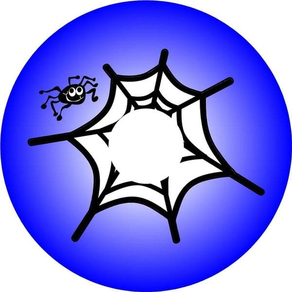 SPIDER WEB BLUE 4x4 Spare Wheel Cover DECAL STICKER (1)