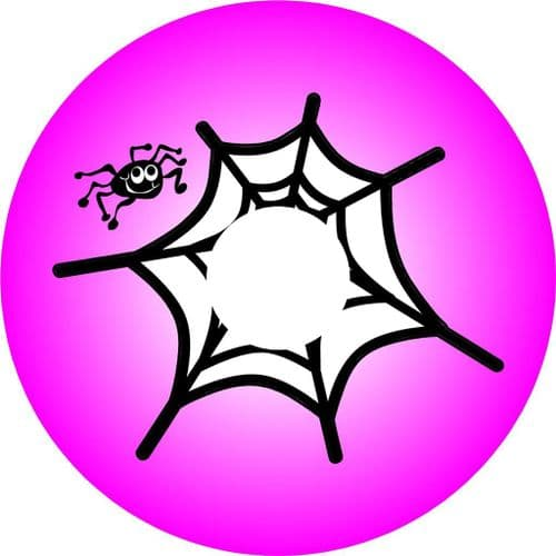 SPIDER WEB PINK 4x4 Spare Wheel Cover DECAL STICKER (2)
