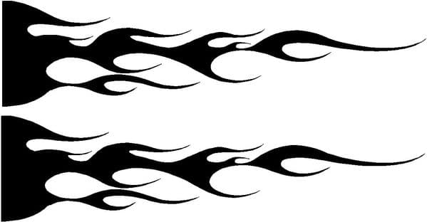 Vehicle Graphic Decal FLAME Design 1